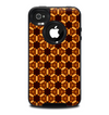 The Bright Orange Geometric Design Pattern Skin for the iPhone 4-4s OtterBox Commuter Case