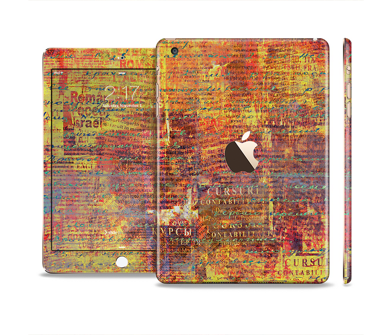 The Bright Orange Torn Posters Full Body Skin Set for the Apple iPad Mini 3