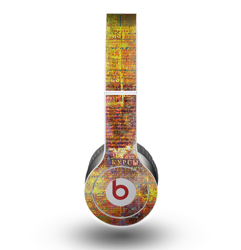 The Bright Orange Torn Posters Skin for the Beats by Dre Original Solo-Solo HD Headphones