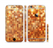 The Bright Orange Unfocused Circles Sectioned Skin Series for the Apple iPhone 6s