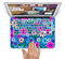 "The Bright Pink & Blue Vector Floral Skin Set for the Apple MacBook Pro 15"" with Retina Display"