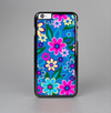 The Bright Pink & Blue Vector Floral Skin-Sert Case for the Apple iPhone 6 Plus
