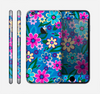 The Bright Pink & Blue Vector Floral Skin for the Apple iPhone 6