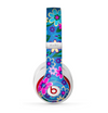 The Bright Pink & Blue Vector Floral Skin for the Beats by Dre Studio (2013+ Version) Headphones