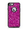 The Bright Pink Glitter Apple iPhone 6 Otterbox Defender Case Skin Set