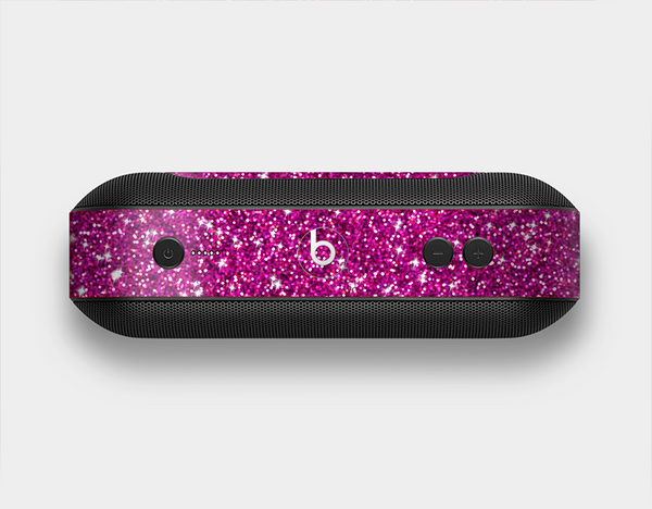 The Bright Pink Glitter Skin Set for the Beats Pill Plus