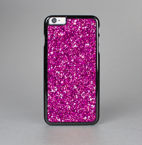 The Bright Pink Glitter Skin-Sert Case for the Apple iPhone 6 Plus
