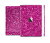 The Bright Pink Glitter Skin Set for the Apple iPad Mini 4