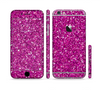 The Bright Pink Glitter Sectioned Skin Series for the Apple iPhone 6