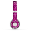 The Bright Pink Glitter Skin for the Beats by Dre Solo 2 Headphones