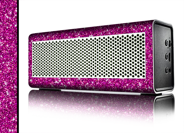 The Bright Pink Glitter Skin for the Braven 570 Wireless Bluetooth Speaker