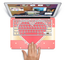 "The Bright Pink Heart Lace V3 Skin Set for the Apple MacBook Pro 15"" with Retina Display"