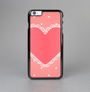 The Bright Pink Heart Lace V3 Skin-Sert Case for the Apple iPhone 6 Plus