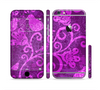 The Bright Pink & Purple Floral Paisley Sectioned Skin Series for the Apple iPhone 6