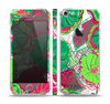 The Bright Pink and Green Flowers Skin Set for the Apple iPhone 5
