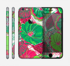 The Bright Pink and Green Flowers Skin for the Apple iPhone 6