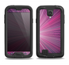 The Bright Purple Rays Samsung Galaxy S4 LifeProof Fre Case Skin Set