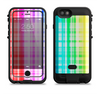 The Bright Rainbow Plaid Pattern Apple iPhone 6/6s LifeProof Fre POWER Case Skin Set
