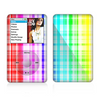 The Bright Rainbow Plaid Pattern Skin For The Apple iPod Classic