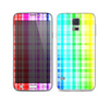 The Bright Rainbow Plaid Pattern Skin For the Samsung Galaxy S5