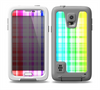 The Bright Rainbow Plaid Pattern Skin for the Samsung Galaxy S5 frē LifeProof Case