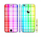 The Bright Rainbow Plaid Pattern Sectioned Skin Series for the Apple iPhone 6s