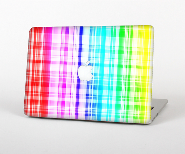 The Bright Rainbow Plaid Pattern Skin for the Apple MacBook Pro Retina 15""