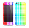 The Bright Rainbow Plaid Pattern Skin for the Apple iPhone 5s