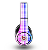 The Bright Rainbow Plaid Pattern Skin for the Original Beats by Dre Studio Headphones