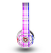 The Bright Rainbow Plaid Pattern Skin for the Original Beats by Dre Wireless Headphones