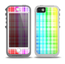 The Bright Rainbow Plaid Pattern Skin for the iPhone 5-5s OtterBox Preserver WaterProof Case