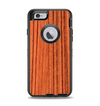 The Bright Red & Black Grained Wood Apple iPhone 6 Otterbox Defender Case Skin Set