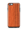 The Bright Red & Black Grained Wood Apple iPhone 6 Plus Otterbox Symmetry Case Skin Set
