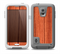 The Bright Red & Black Grained Wood Skin for the Samsung Galaxy S5 frē LifeProof Case