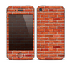 The Bright Red Brick Wall Skin for the Apple iPhone 4-4s