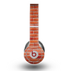 The Bright Red Brick Wall Skin for the Beats by Dre Original Solo-Solo HD Headphones