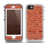 The Bright Red Brick Wall Skin for the iPhone 5-5s OtterBox Preserver WaterProof Case