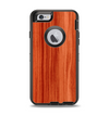 The Bright Red Stained Wood Apple iPhone 6 Otterbox Defender Case Skin Set