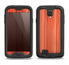 The Bright Red Stained Wood Samsung Galaxy S4 LifeProof Fre Case Skin Set