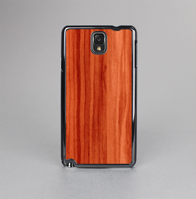The Bright Red Stained Wood Skin-Sert Case for the Samsung Galaxy Note 3