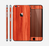 The Bright Red Stained Wood Skin for the Apple iPhone 6 Plus