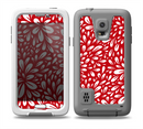 The Bright Red and White Floral Sprout Skin for the Samsung Galaxy S5 frē LifeProof Case