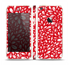 The Bright Red and White Floral Sprout Skin Set for the Apple iPhone 5s