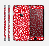 The Bright Red and White Floral Sprout Skin for the Apple iPhone 6