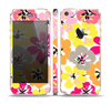The Bright Summer Brushed Flowers  Skin Set for the Apple iPhone 5s