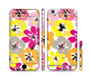 The Bright Summer Brushed Flowers  Sectioned Skin Series for the Apple iPhone 6 Plus