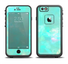 The Bright Teal WaterColor Panel Apple iPhone 6/6s LifeProof Fre Case Skin Set