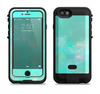 The Bright Teal WaterColor Panel Apple iPhone 6/6s LifeProof Fre POWER Case Skin Set