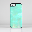 The Bright Teal WaterColor Panel Skin-Sert for the Apple iPhone 5c Skin-Sert Case