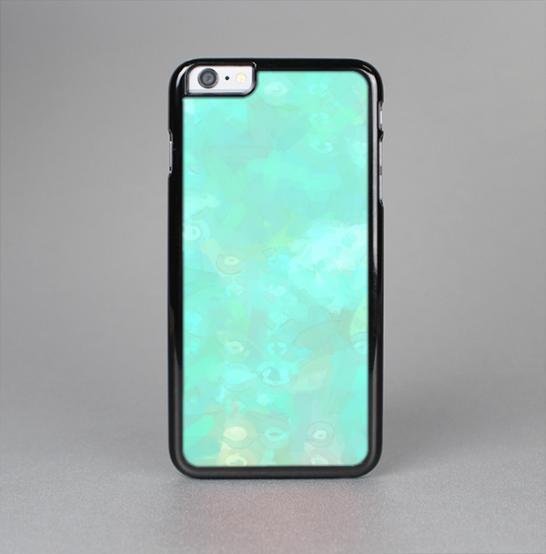 The Bright Teal WaterColor Panel Skin-Sert Case for the Apple iPhone 6 Plus